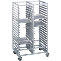 Channel 465A 80 Tray Bottom Load Double Aluminum Cafeteria Tray Rack - Assembled