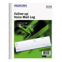 Rediform 51114 Wirebound Voicemail Log Book with 500 Forms