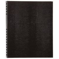 Blueline A10150BLK NotePro Wirebound Black 11 inch x 8 1/2 inch College Ruled Notebook - 75 Sheets