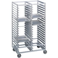 Channel 458A 60 Tray Bottom Load Double Aluminum Cafeteria Tray Rack - Assembled