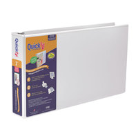 Stride 94030 QuickFit White View Binder with 2 inch Locking Slant Rings