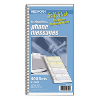 Rediform 50750 2-Part Self-Stick Phone Message Book with 400 Forms