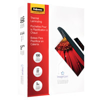 Fellowes 52040 ImageLast 11 1/2 inch x 9 inch Letter Laminating Pouch - 5 Mil - 100/Pack