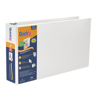 Stride 94050 QuickFit White View Binder with 3 inch Locking Slant Rings