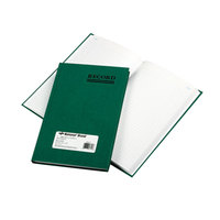 National 56521 Emerald Series 9 5/8 inch x 6 1/4 inch Green Account Book - 200 Pages