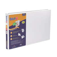 Stride 94010 QuickFit White View Binder with 1 inch Locking Slant Rings