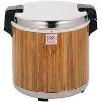 Thunder Group SEJ21000 50 Cup Rice Warmer with Wood Grain Finish - 120V