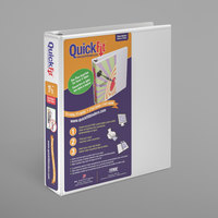 Stride 87020 QuickFit White View Binder with 1 1/2 inch Slant Rings