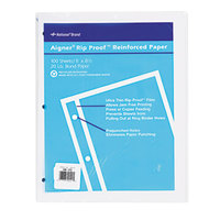 Rediform Office 20121 8 1/2 inch x 11 inch Pack of Binder / Notebook Unruled Refill Sheet - 100/Sheets
