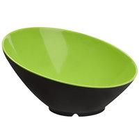 GET B-788-G/BK Brasilia 16 oz. Green and Black Slanted Melamine Bowl