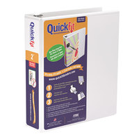 Stride 87030 QuickFit White View Binder with 2 inch Slant Rings