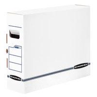 Fellowes 00650 Banker's Box 5 inch x 19 3/4 inch x 14 7/8 inch X-Ray Storage Box with Tab Lock - 6/Case