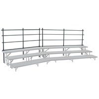 National Public Seating GRR24S Back Guardrail for 18 inch x 24 inch Straight Risers