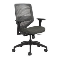HON SVMR1ACLCO10 Solve Series Ink/Charcoal ReActiv Back Task Chair with Casters