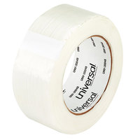 Universal UNV30048 2 inch x 60 Yards Clear 110# Utility Grade Filament Tape