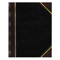 National 57131 Texthide 14 1/4 inch x 8 3/4 inch Black / Burgundy Record Book - 300 Pages