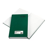 National 56151 Emerald Series 12 1/4 inch x 7 1/4 inch Green Account Book - 500 Pages