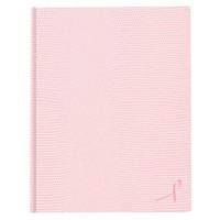 Blueline A10PNK2 Hardbound Pink 11 inch x 8 1/2 inch College Ruled Executive Notebook - 75 Sheets