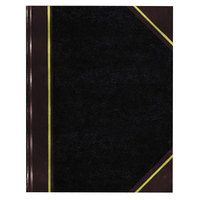 National 56231 Texthide 10 3/8 inch x 8 3/8 inch Black / Burgundy Record Book - 300 Pages