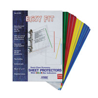 Stride 61200 EasyFit 8 1/2 inch x 11 inch Assorted Color Top-Load Sheet Protectors, Letter - 100/Box