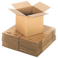 12 inch x 12 inch x 12 inch Kraft Shipping Box - 25/Bundle