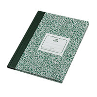 National 53010 Casebound Green Marble 10 1/8 inch x 7 7/8 inch Legal Ruled Lab Notebook - 96 Sheets