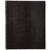 Blueline A10300BLK NotePro Wirebound Black 11 inch x 8 1/2 inch College Ruled Notebook - 150 Sheets