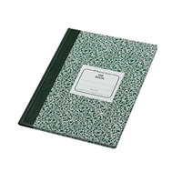 National 53110 Casebound Green Marble 10 1/8 inch x 7 7/8 inch Quadrille Ruled Lab Notebook - 96 Sheets