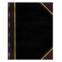 National 56211 Texthide 10 3/8 inch x 8 3/8 inch Black / Burgundy Record Book - 150 Pages