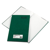 National 56111 Emerald Series 12 1/4 inch x 7 1/4 inch Green Account Book - 150 Pages
