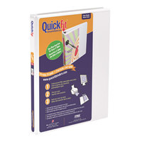 Stride 87000 QuickFit White View Binder with 5/8 inch Slant Rings