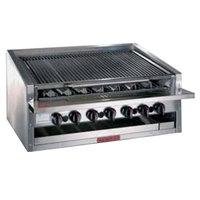 MagiKitch'n APM-SMB-660 60 inch Natural Gas Low Profile Lava Rock Charbroiler - 195,000 BTU