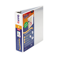 Stride 88030 QuickFit White View Binder with 2 inch Round Rings