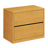 HON 10563CC 10500 Series Harvest Two-Drawer Lateral Filing Cabinet - 36 inch x 20 inch x 29 1/2 inch