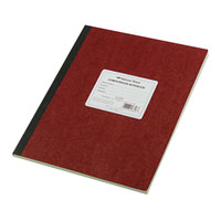 National 43648 Casebound Brown 11 3/4 inch x 9 1/4 inch Quadrille Ruled Computation Notebook - 75 Sheets