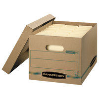 Bankers Box 1277601 Stor/File 12 1/2 inch x 16 1/4 inch x 10 1/2 inch Kraft Letter/Legal Sized File Storage Box with Lift-Off Lid - 12/Case