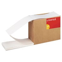 Universal UNV63135 3 inch x 5 inch White Continuous Unruled Index Cards - 4000/Case