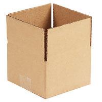 6 inch x 6 inch x 4 inch Kraft Shipping Box - 25/Bundle