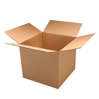 14 inch x 14 inch x 14 inch Kraft Double Wall Shipping Box - 15/Bundle