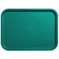 Carlisle CT121615 Customizable Cafe 12 inch x 16 inch Teal Standard Plastic Fast Food Tray - 24/Case