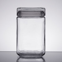Anchor Hocking 85588R 1.5 Qt. Clear Stackable Square Glass Jar
