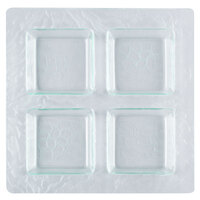 Clipper Mill by GET PL-01 11 1/2 inch Clear Plastic 4-Compartment Tray