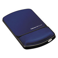 Fellowes 9175401 Sapphire / Black Mouse Pad with Gel-filled Wrist Support and Microban Protection