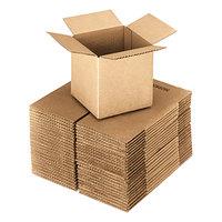 4 inch x 4 inch x 4 inch Kraft Shipping Box - 25/Bundle