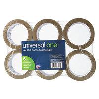 Universal UNV93001 2 inch x 55 Yards Tan Heavy-Duty Box Sealing Tape   - 6/Pack