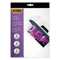 Fellowes 5200501 ImageLast 11 1/2 inch x 9 inch Letter Laminating Pouch - 3 Mil - 25/Pack