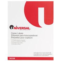 Universal UNV90108 8 1/2 inch x 11 inch Bright White Copier Shipping Labels - 100/Box