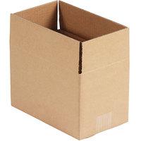 10 inch x 6 inch x 6 inch Kraft Shipping Box - 25/Bundle