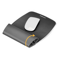 Fellowes 9311801 I-Spire Gray Wrist Rocker Mouse Pad with Wrist Rest