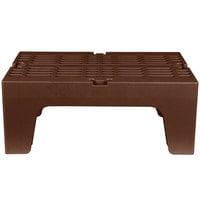 Cambro DRS300131 S-Series 30 inch x 21 inch x 12 inch Brown Slotted Top Bow Tie Dunnage Rack - 1500 lb. Capacity